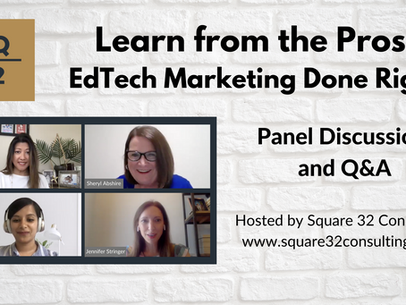 Recap of Learn from the Pros: EdTech Marketing Done Right
