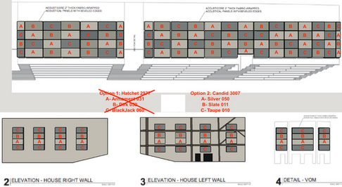 Acoustical Panel Layout & Fabric Selecti