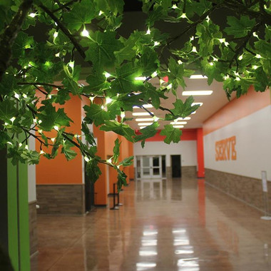 Love this 14' LED tree in the 'Grow' hal