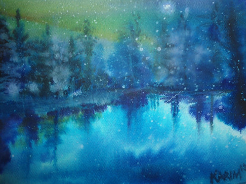 Moonlit Snowfall