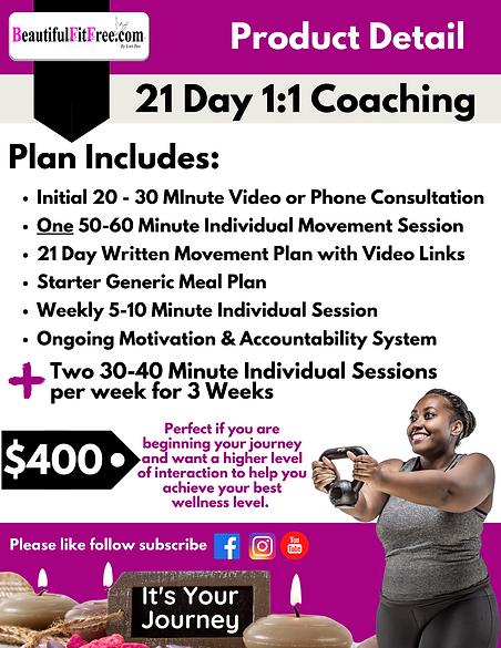 Product Description - 21 Day 11 Coaching
