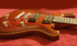 Red fully finished PVX guitar