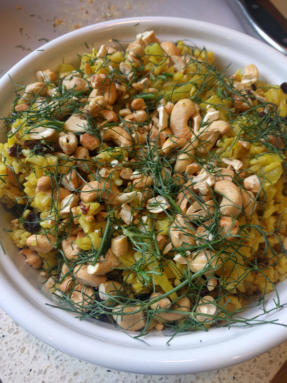 Cashew Brown Rice Pilaf