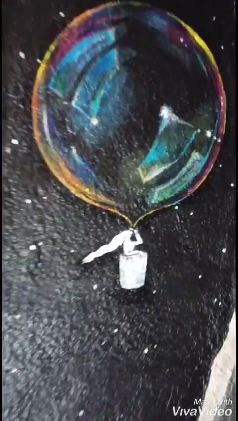 video-maleri direkte på vegg