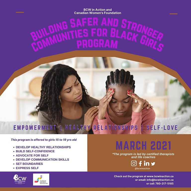 Building Safer & Stronger Communities for Black Girls Program