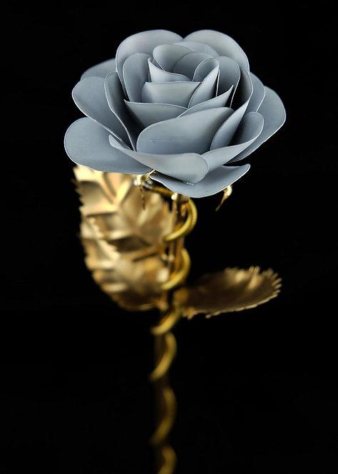 Premium Edelstahlrose Gold Weiß