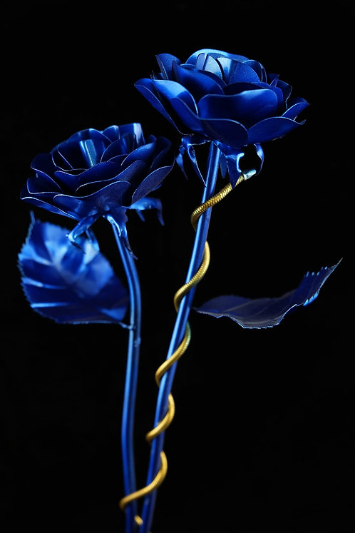 Doppelpack Klassiker Blau Metallic