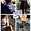Thumbnail: Hochwertige Edelstahlrose Blau Metalic