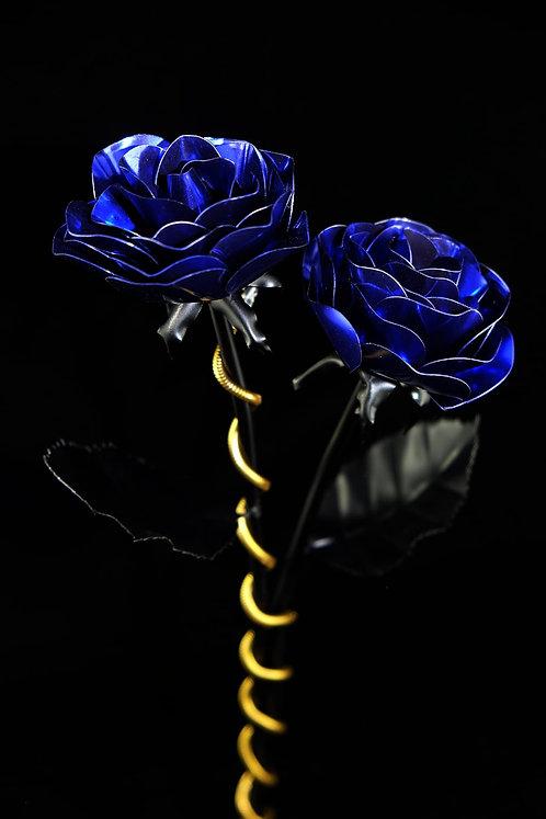 Doppelpack Klassiker matt schwarz Metallic Blau
