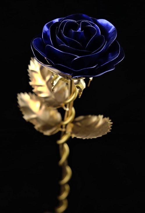 Premium Edelstahlrose Gold Violett