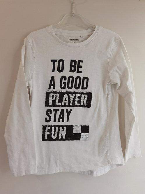 T-shirt garçon T10A sequins - 12438