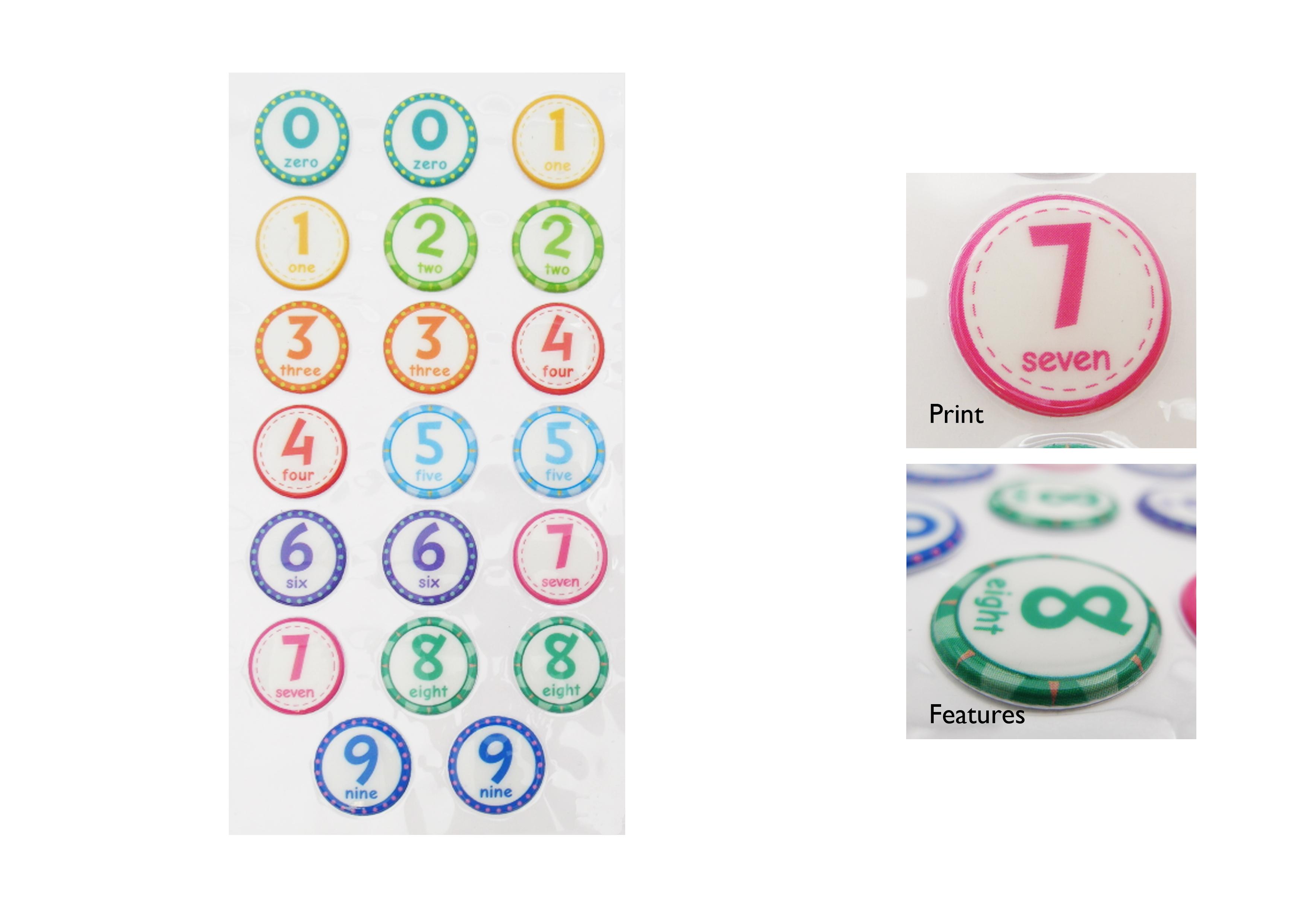 Numbers NLB Sticker