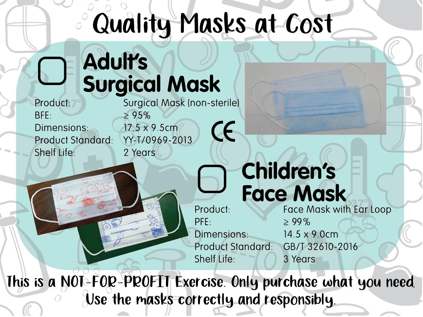 Adult Surgical Mask & Children Face Mask