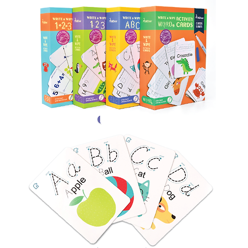 Mideer Write and Wipe Activity Cards