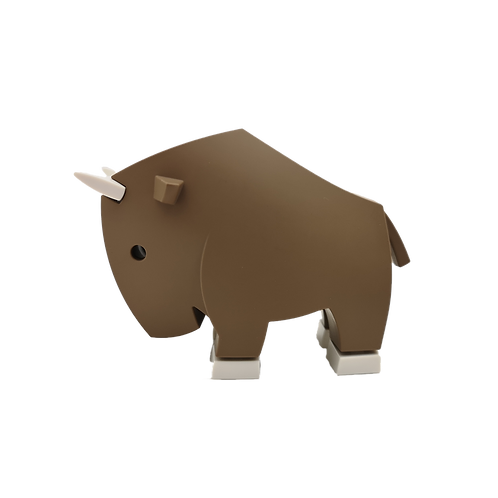 Halftoys Magnetic Animal Blocks - Gnu