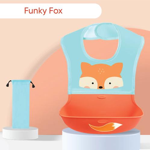 Funky Fox Silicone Bib