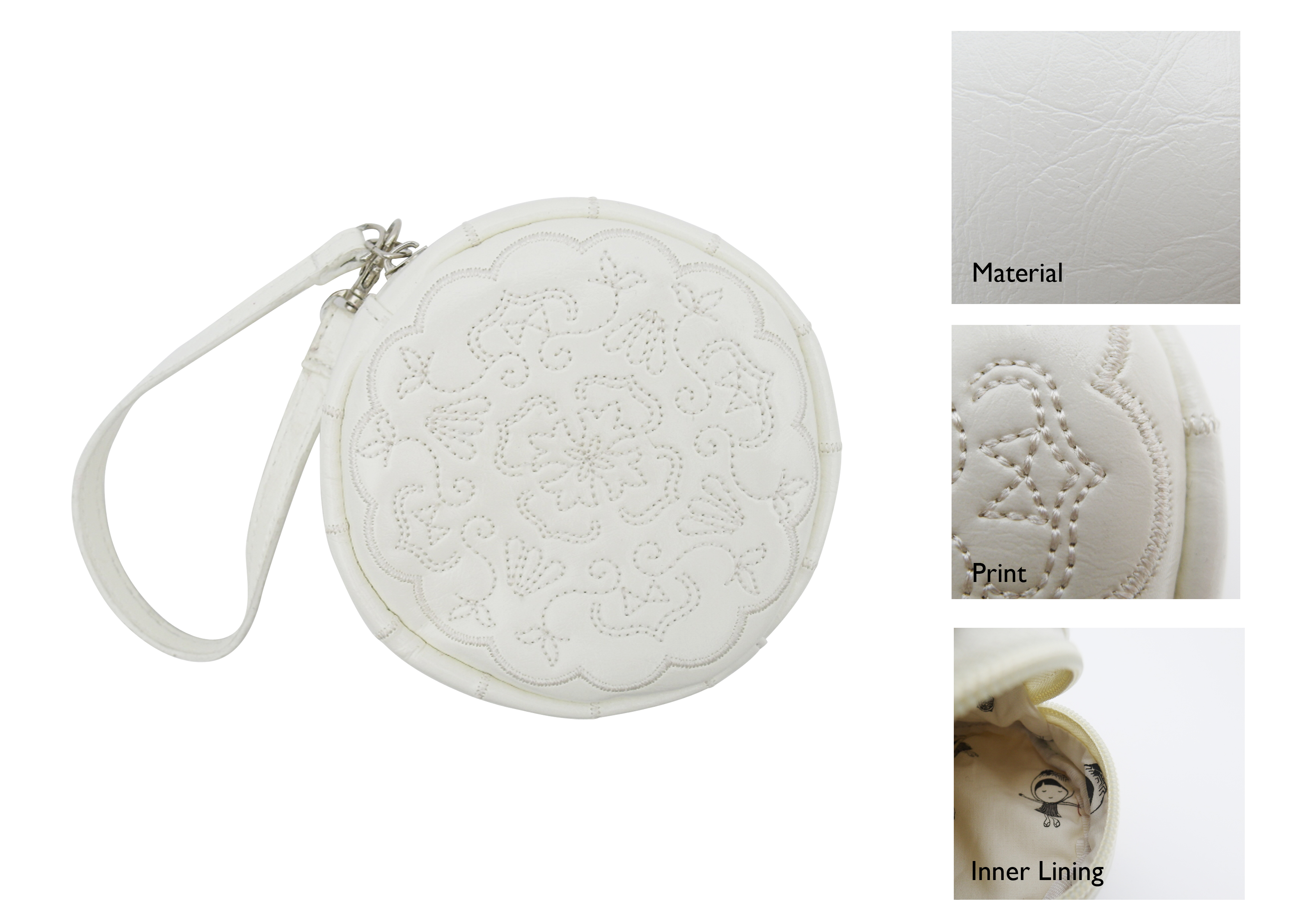 Snowskin Mooncake Wristlet Bag