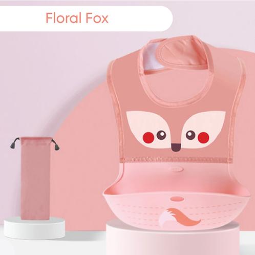 Floral Fox Silicone Bib