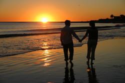 sunset walk beach negril