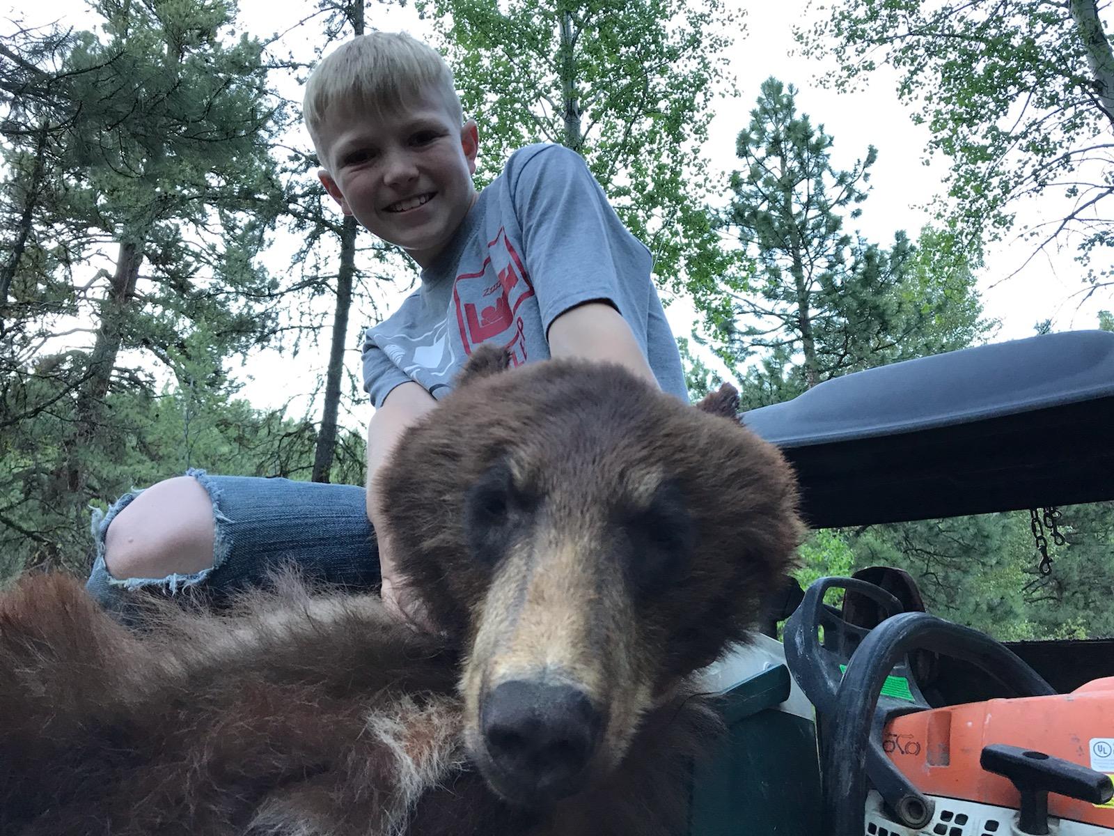 Young hunter harvests black bear