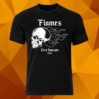 Flames Skull Black