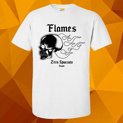 Flames Skull White