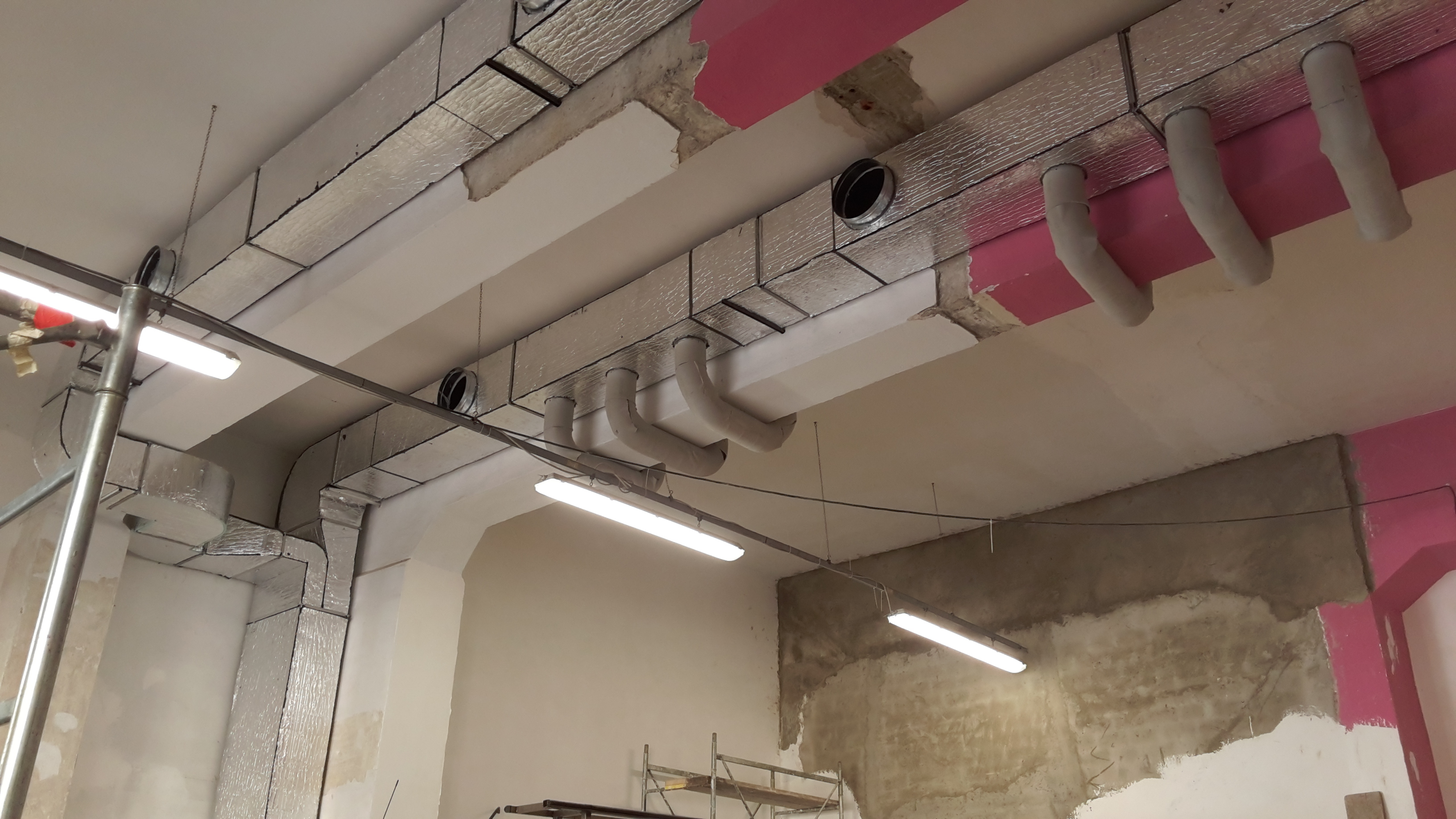 il nuovo impianto di climatizzazione