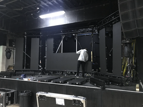 SETTING UP 3D VIDEO SCREEN FOR KOAN SOUND
