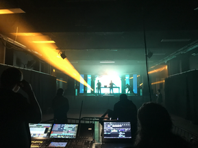 VIEW FROM LIGHTING DESK AD TRINITY CENTRE, BRISTOL BEFORE KOAN SOUND LIVE SHOW
