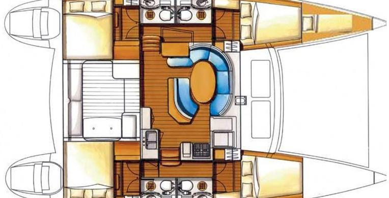 Plan lagoon 410 catamarán