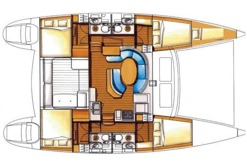 Plan lagoon 410 catamaran