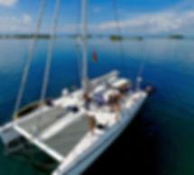 Belize trip on catamaran Outremer 55 STD