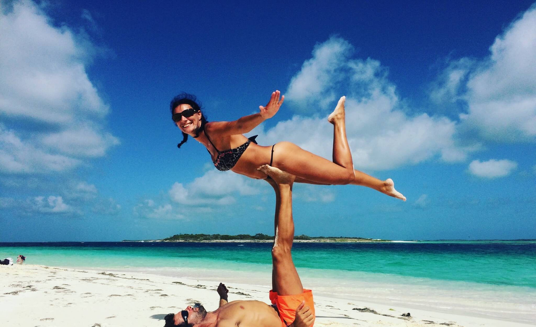 Yoga on the beach French polynesia