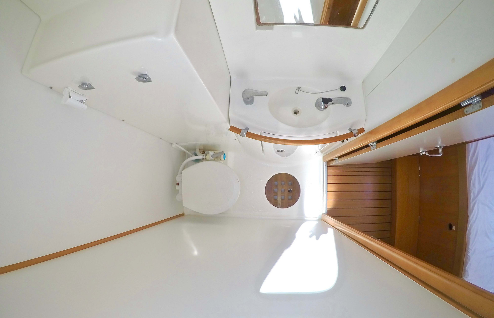private toilets catamaran