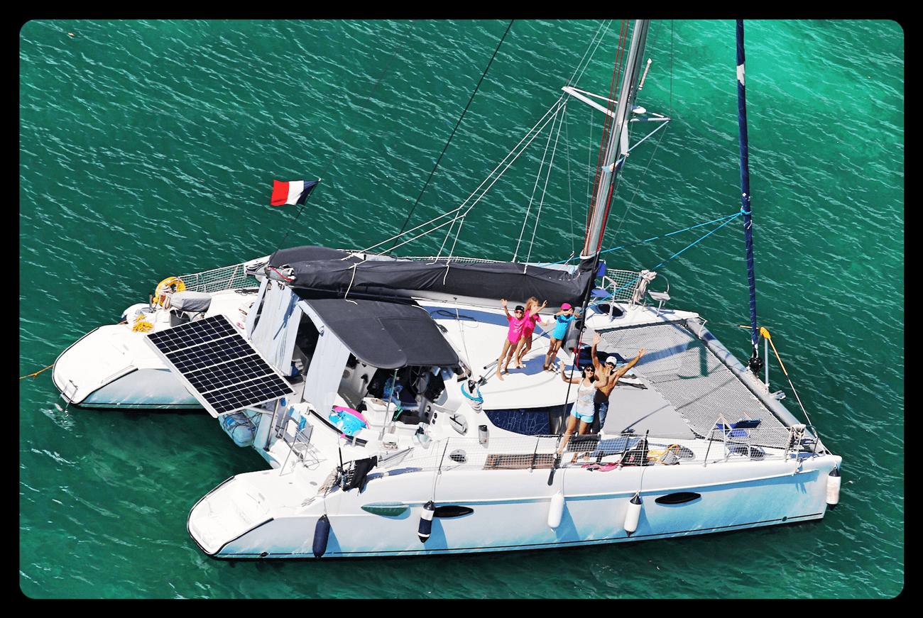 Sailing trip family catamaran