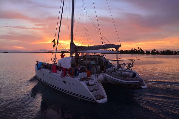 coucher de soleil san blas catamaran panama