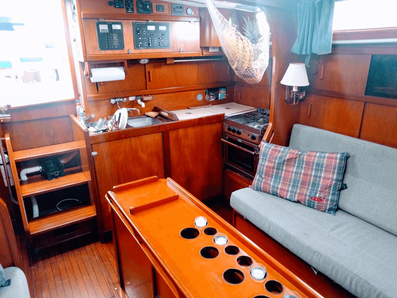 Amel Maramu46 Panama sailboat kitchen