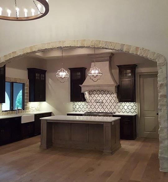 Modern Tuscan Fireplace