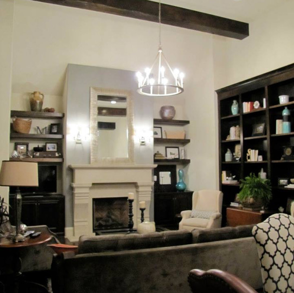 Concrete Fireplace Traditonal