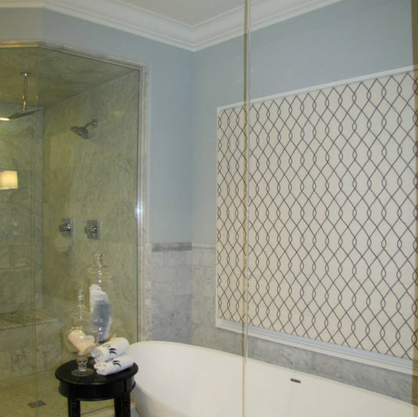 Master Bath with Water from Ceiling