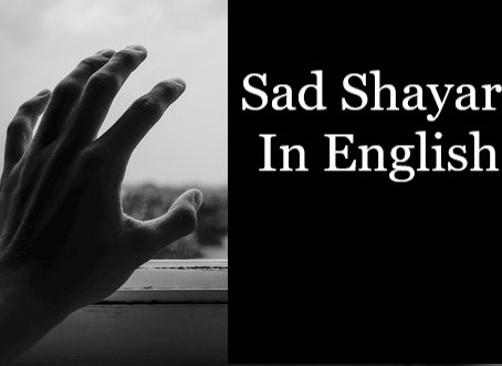 Sad Shayari In English 2020
