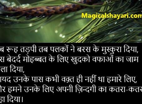 Jab Rooh Tadpi Tab Palkon Ne Baras Ke, Dard Bhari Shayari