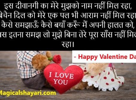 Is Deewangi Ka Mere Mujhko Naam Nahi, Valentine Shayari 2020 Image