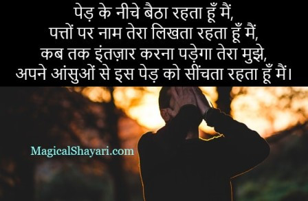 Ped Ke Niche Baitha Rehta Hun Main, Intezaar Shayari On Waiting