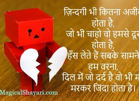 Zindagi Bhi Kitna Ajeeb Hota Hai, Shayari On Life