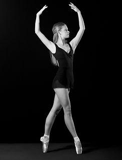 teenager young ballerina pose
