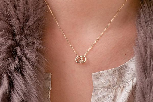 ALBARINO GOLD STERLING SILVER RUSSIAN RING NECKLACE