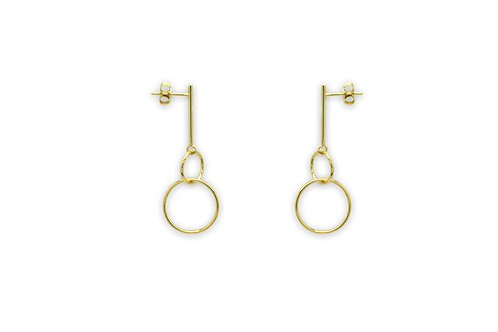 Constance Gold 2 Circle Earrings