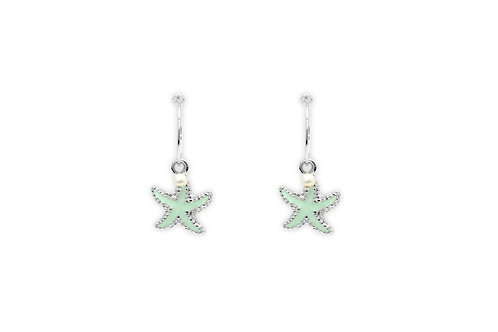 CLEMENTINE MINT STAR FISH CHARM EARRINGS