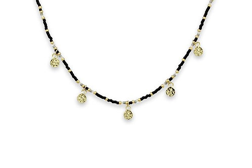 Pallas Black & Gold Choker Necklace